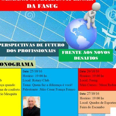 XV Semana Multidisciplinar da FASUG