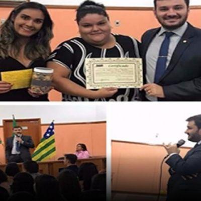 Alunos da Fasug, em Pires do Rio, recebem promotor para palestra institucional - Lista Pires do Rio