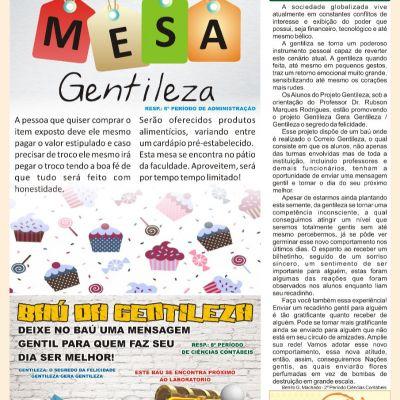 Jornal Gentileza n2: o segredo da felicidade