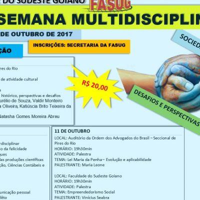 XVI Semana Multidisciplinar